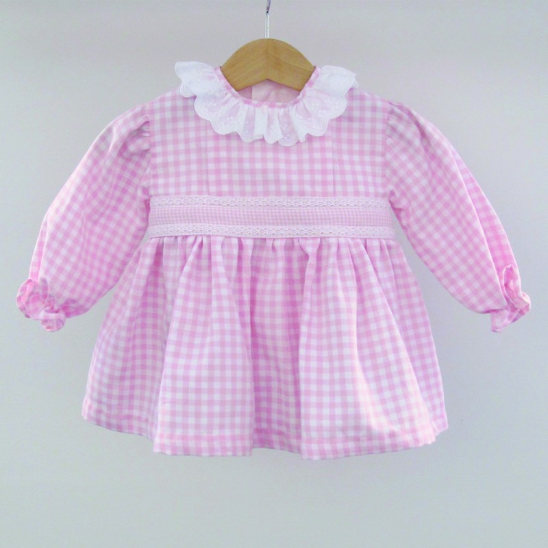 Lets Play - Pink Checked Dress