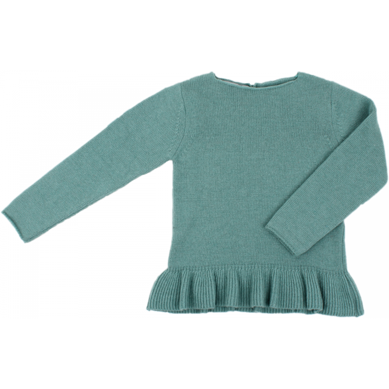 Girls Glacier Green Jumper