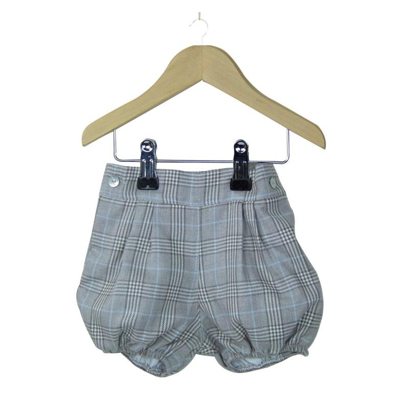 Grey Tartan Shorts