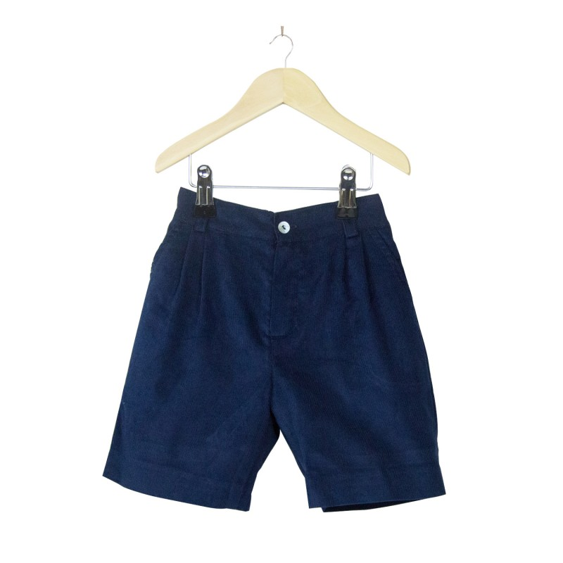 Blue Corduroy Shorts