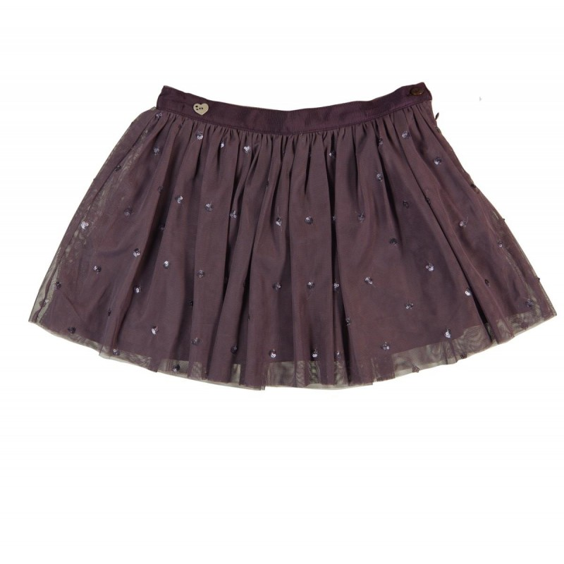 Purple Sequin Skirt