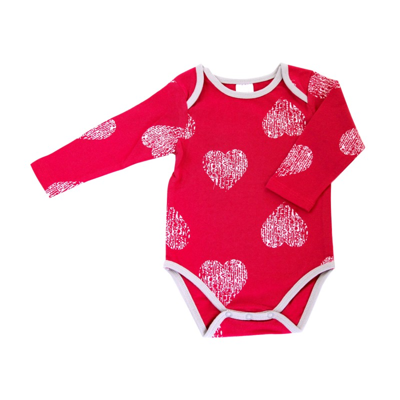 Pink Heart Bodysuit