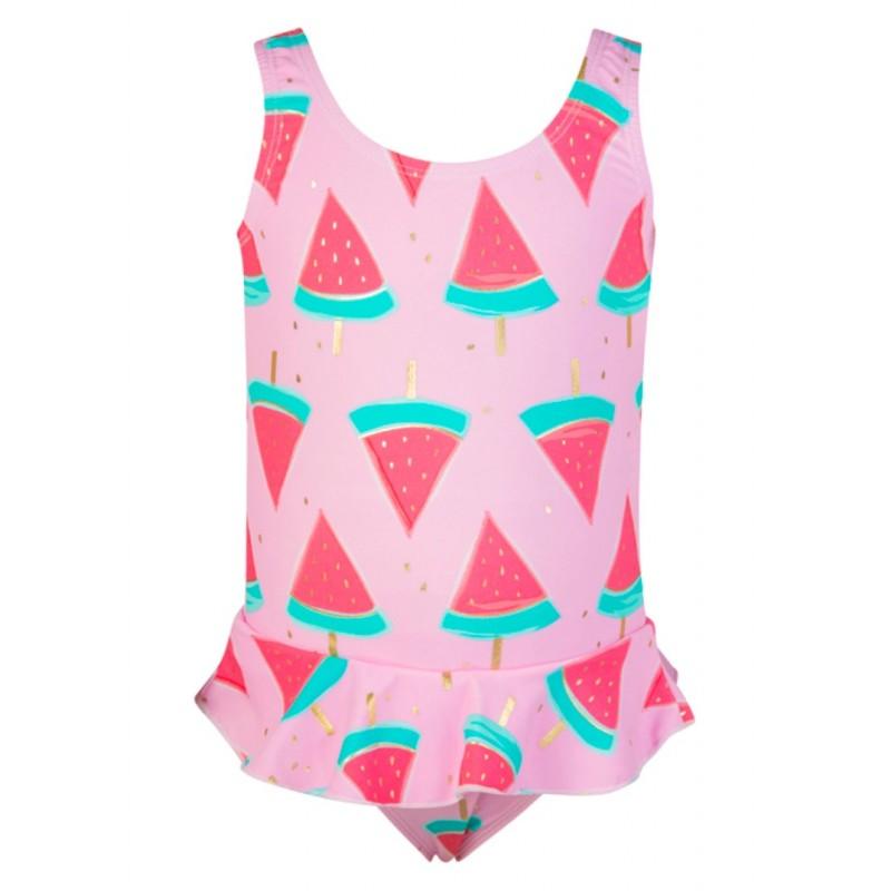 Snapper Rock Watermelon Skirt Swimsuit