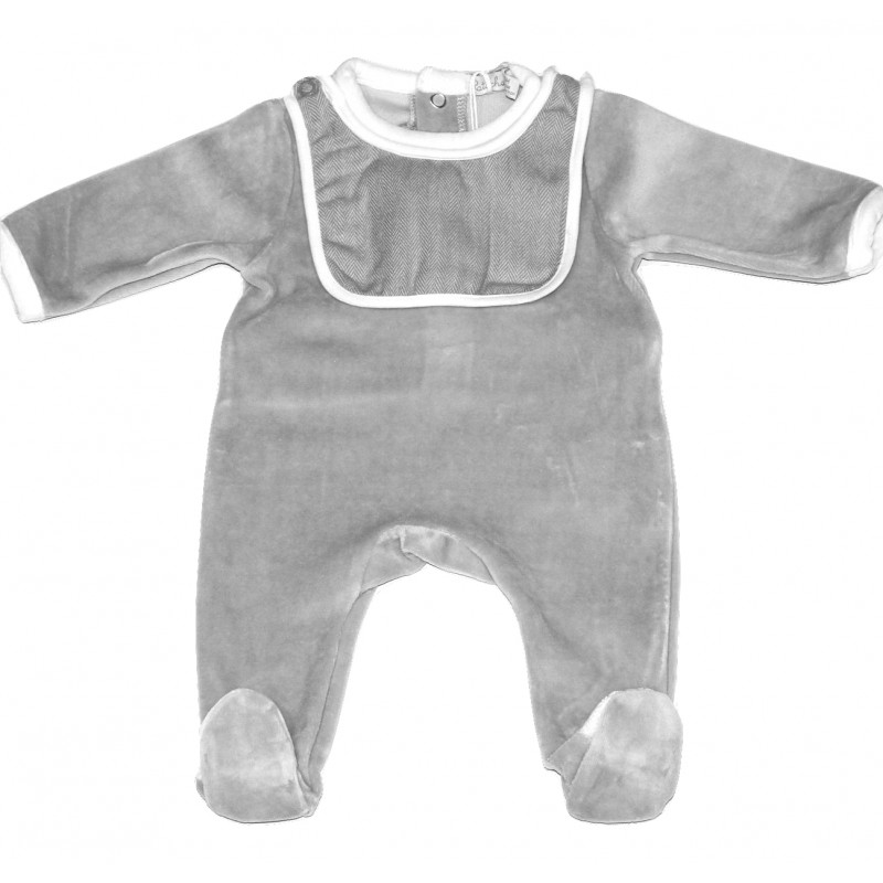 Babygrow with Detachable Bib