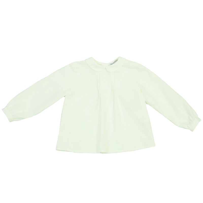 Pretty White Blouse with frill collar