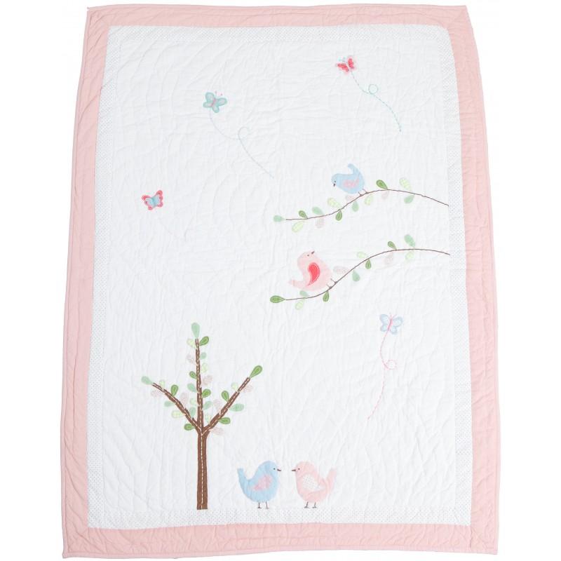 Love Bird Quilt - Cot Bed