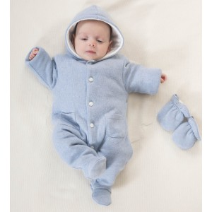 Knitted Baby Pramsuit