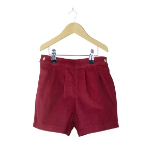 Red Corduroy Shorts