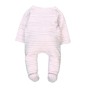 Striped Bunny Babygrow
