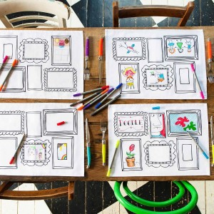 Doodle Frame Placemat