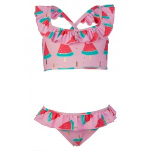 Snapper Rock Watermelon Ruffle Bikini