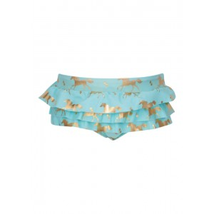 Snapper Rock Gold Horse Ruffle Set