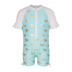 Snapper Rock Gold Horse Sunsuit