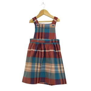 Kenya Check Pinafore