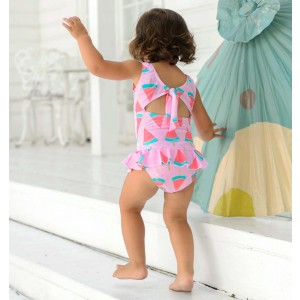 Snapper Rock Watermelon Skirt Swimsuit