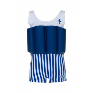 Beverly Kids Blue Striped Swimsuit