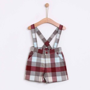 Checked Shorts with Removable Straps