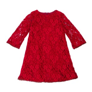 Ruby Red Lace Dress