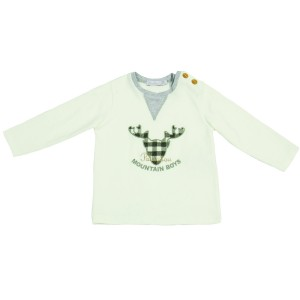 Boys Top with Moose Motif