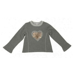 Grey Heart Sweater