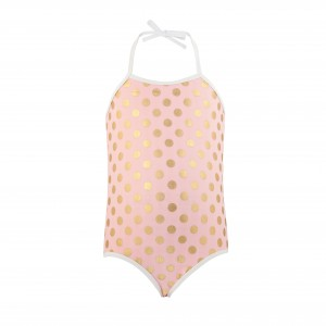 Snapper Rock Ballet Gold Dot Swimsuit
