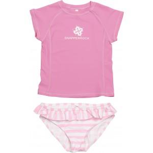 Snapper Rock Striped Pink Swim Set