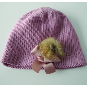 Merino Beanie with Fur Pom-Pom