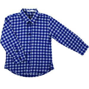 Blue and Grey Checked Shirt
