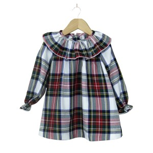 Tartan Collar Dress