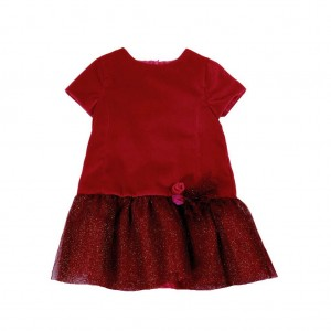 Ruby Red Drop Waist Dress