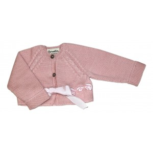 Cardigan with Ribbon Detail