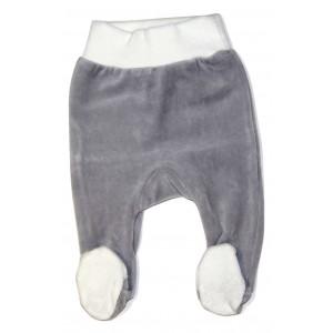 Velour Grey Baby Leggings
