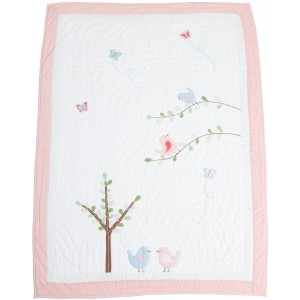 Love Bird Quilt - Cot Bed