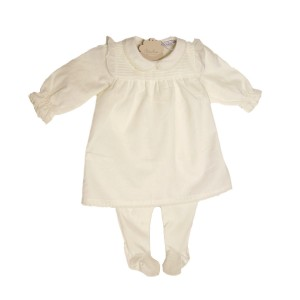 Delicate Babygrow Dress with Lace detail