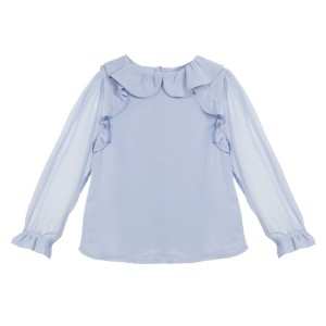 Dressy Pale Blue Blouse