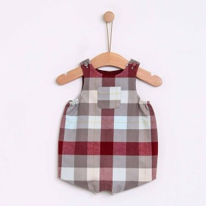 Nordic Checked Baby Romper