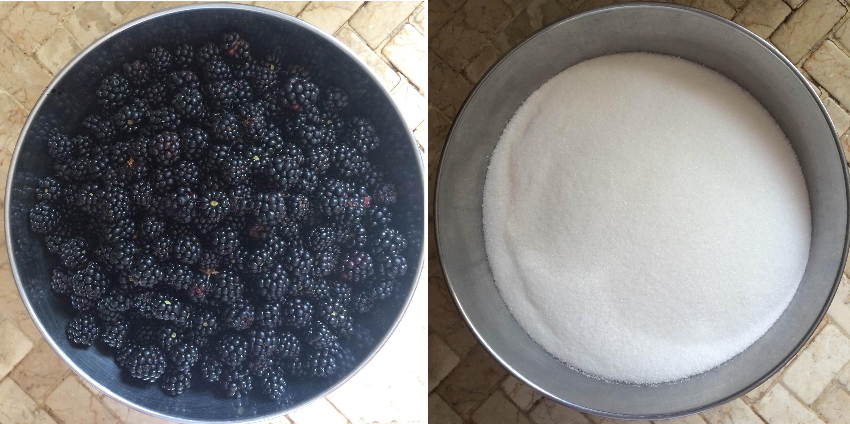 Jam and sugar